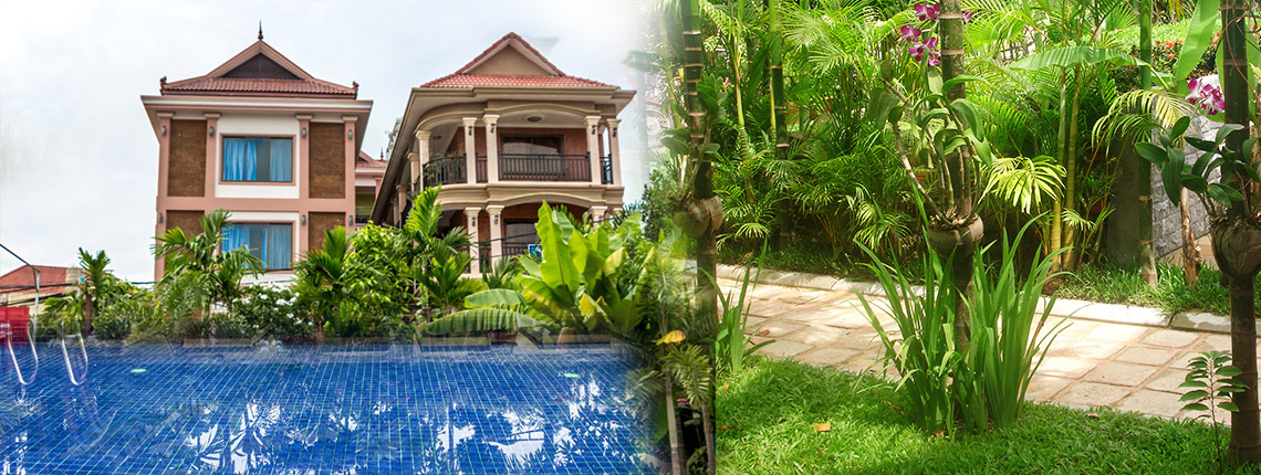 jasmine guesthouse angkor guesthouse swimming pool cambodia tours - Nice Houses With Swimming Pools